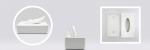 収納上手にピッタリなティッシュケース!! プラスチック製ホワイトのケースが100均でも!